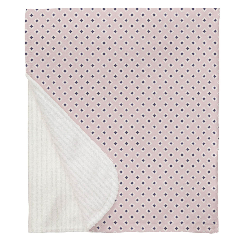 Product image for Pink and Navy Diamond Baby Blanket