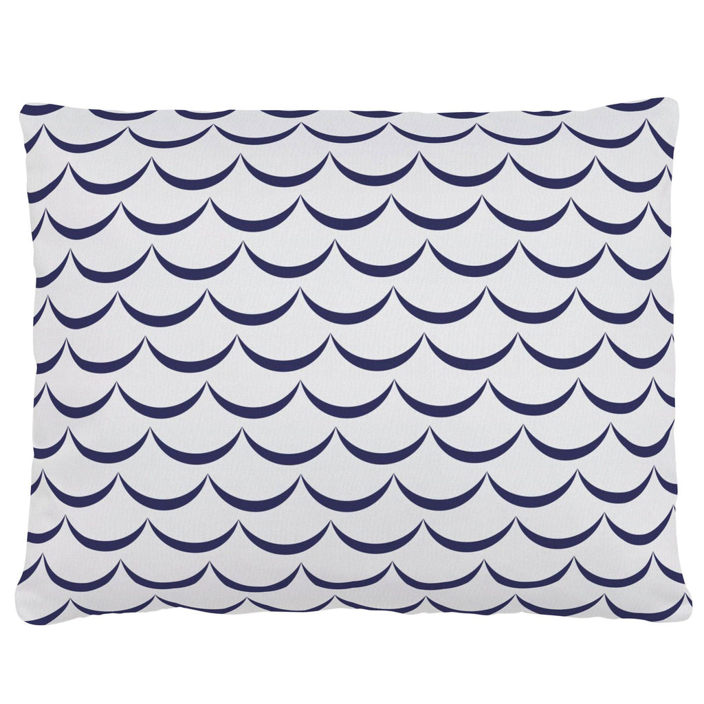 Product image for White and Navy Waves Accent Pillow