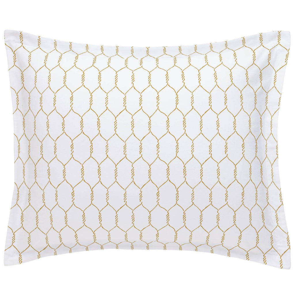 Product image for Mustard Farmhouse Wire Pillow Sham