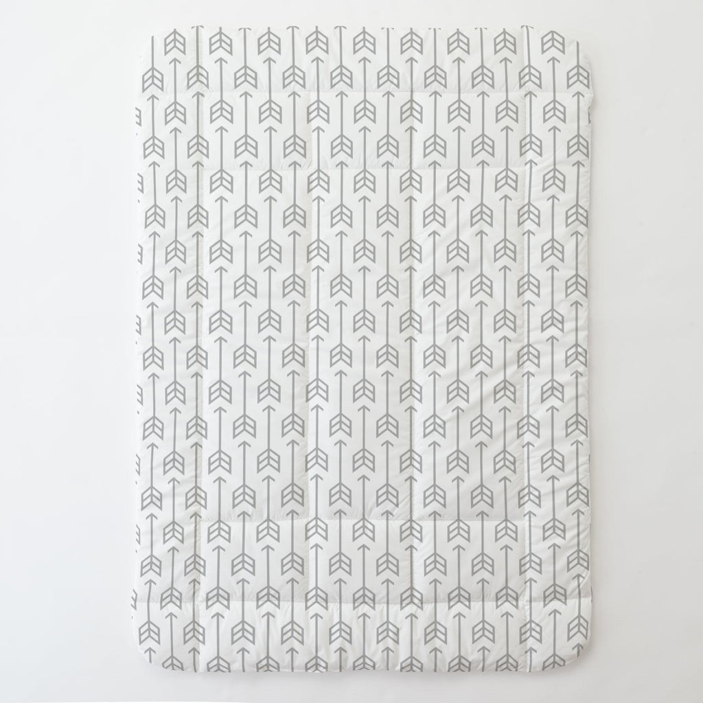 Product image for Silver Gray Arrow Toddler Comforter