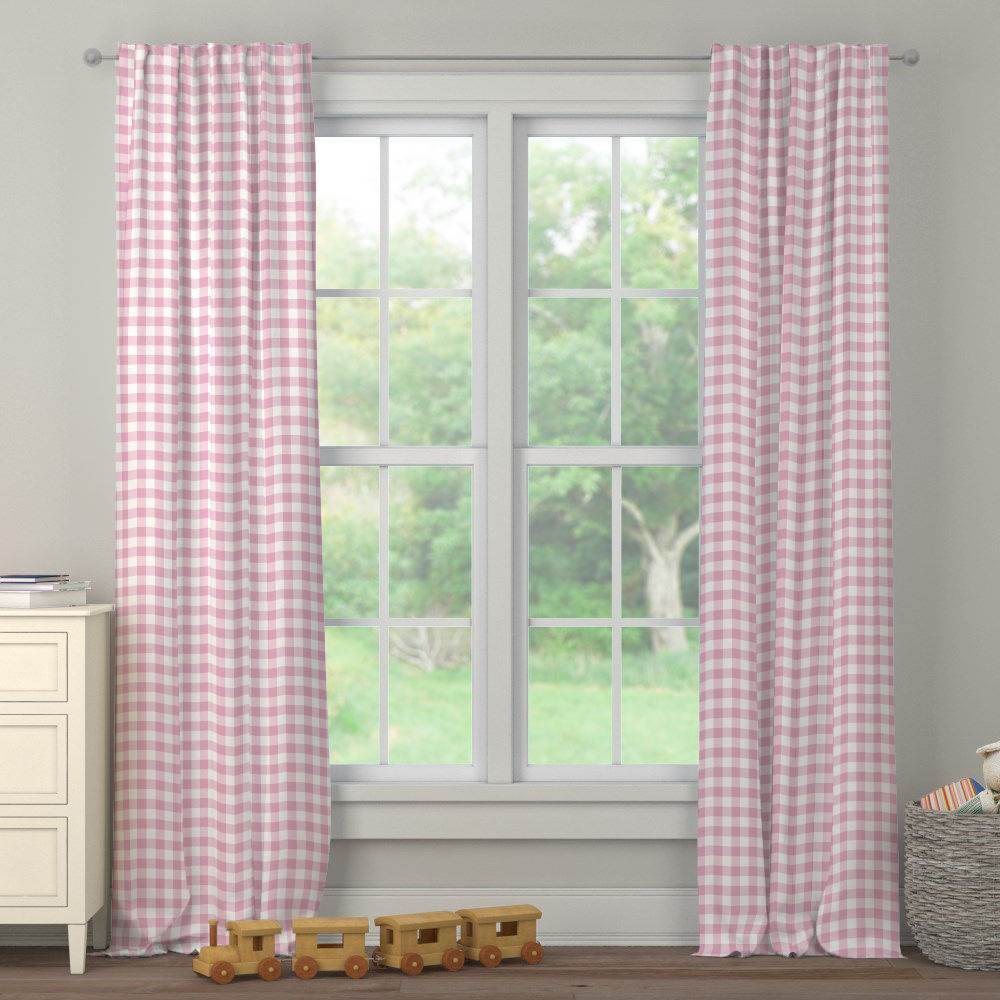 Product image for Bubblegum Gingham Drape Panel
