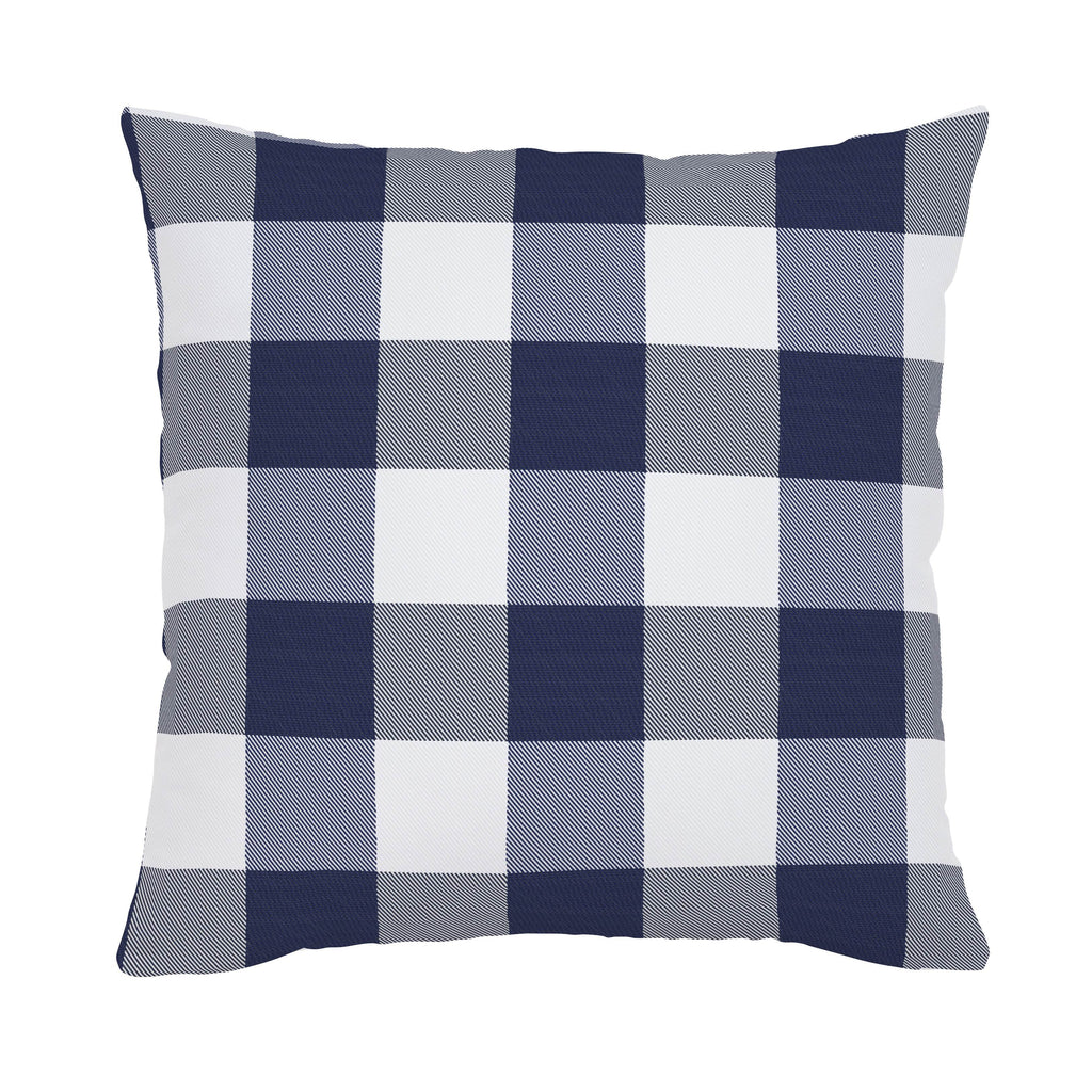 Product image for Navy and White Buffalo Check Throw Pillow