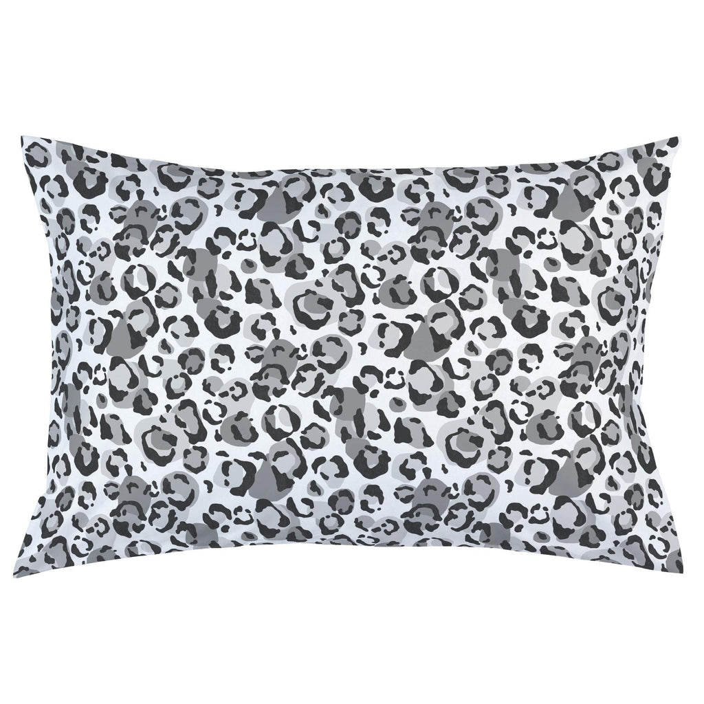 Product image for Gray Leopard Pillow Case