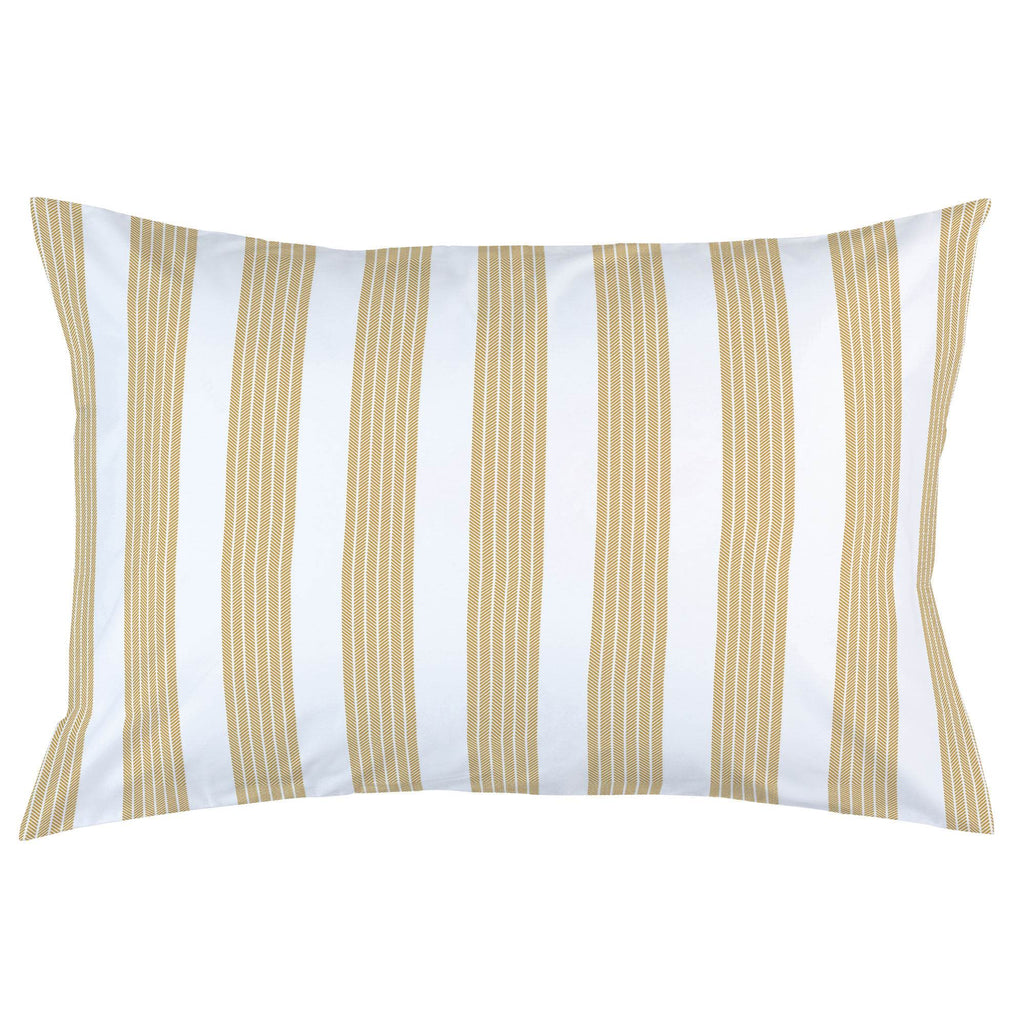 Product image for Mustard Seaside Stripe Pillow Case