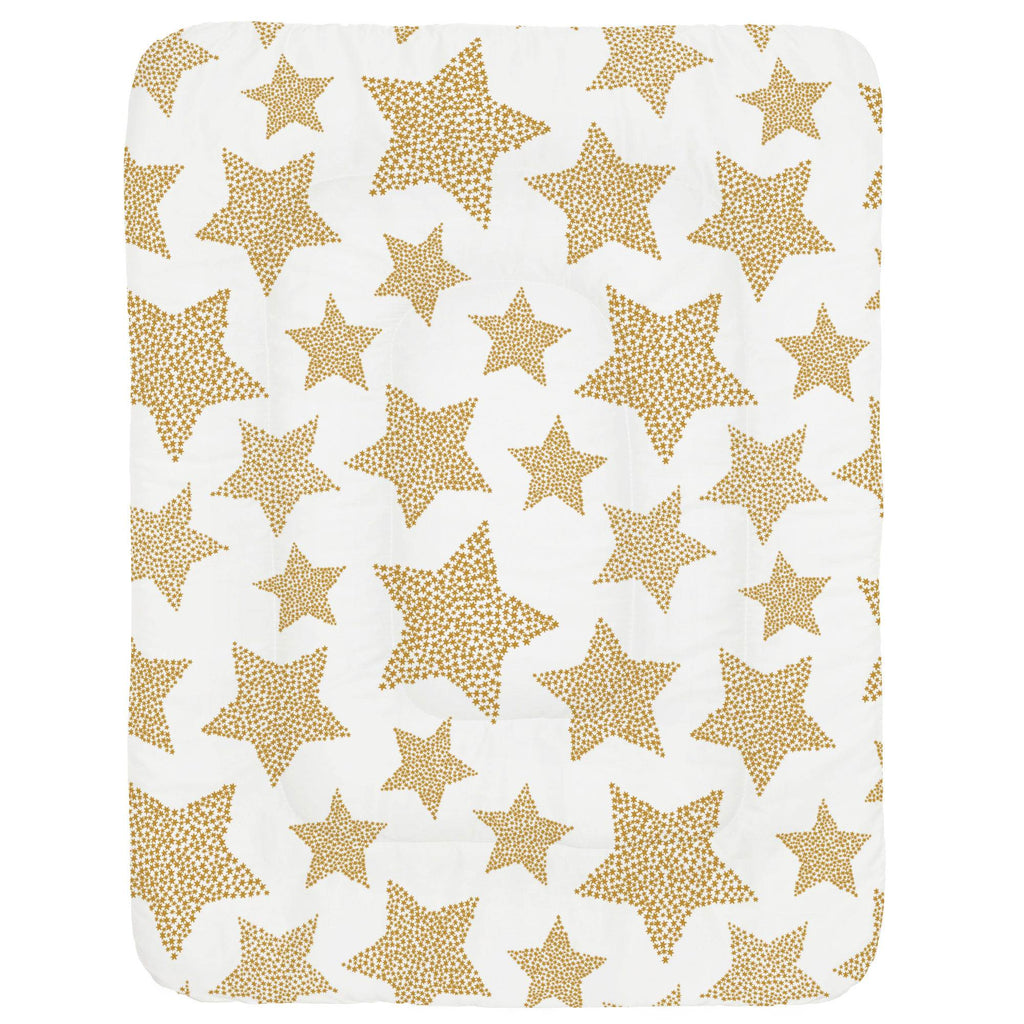 Product image for Mustard Galaxy Stars Crib Comforter