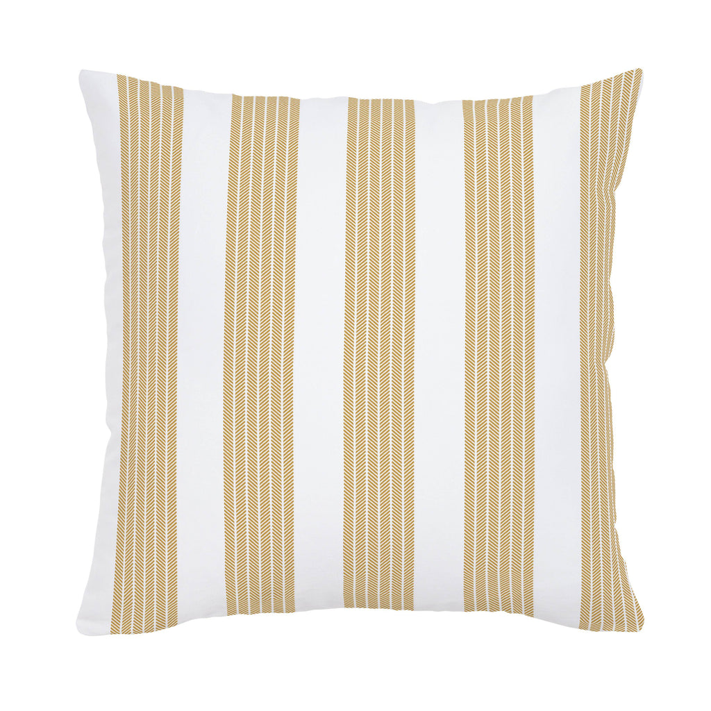 Product image for Mustard Seaside Stripe Throw Pillow