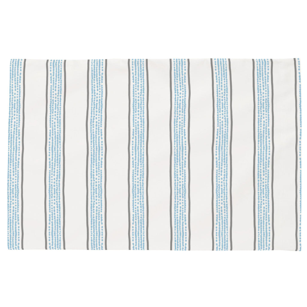 Product image for Gray and Lake Blue Beach Stripe Toddler Pillow Case