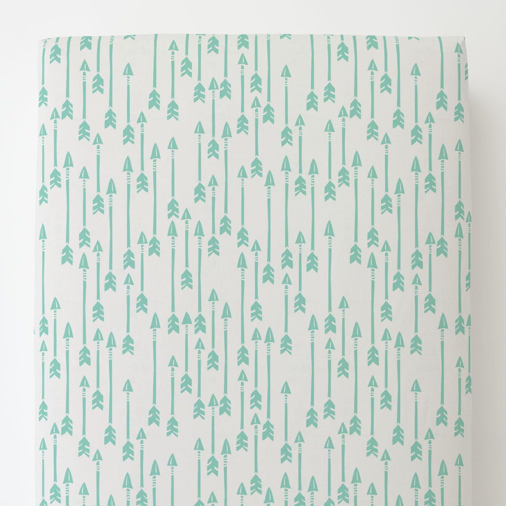Product image for Mint Flying Arrow Toddler Sheet Bottom Fitted