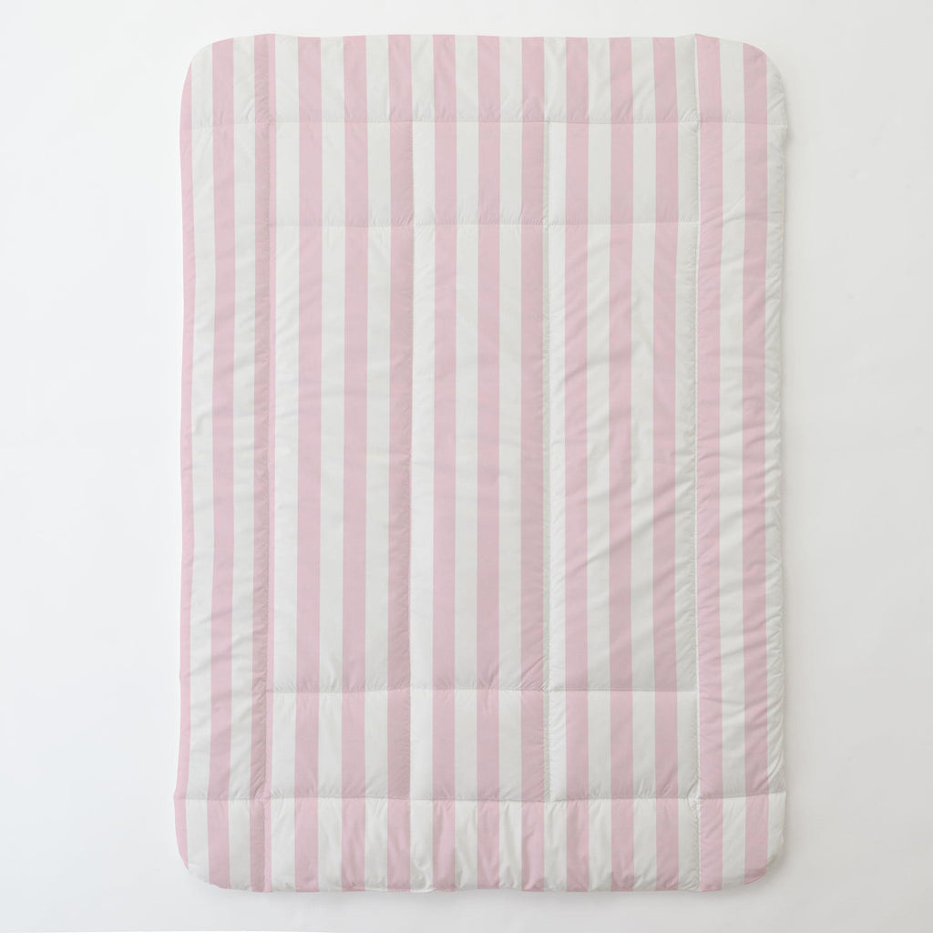 Product image for Pink Stripe Toddler Comforter
