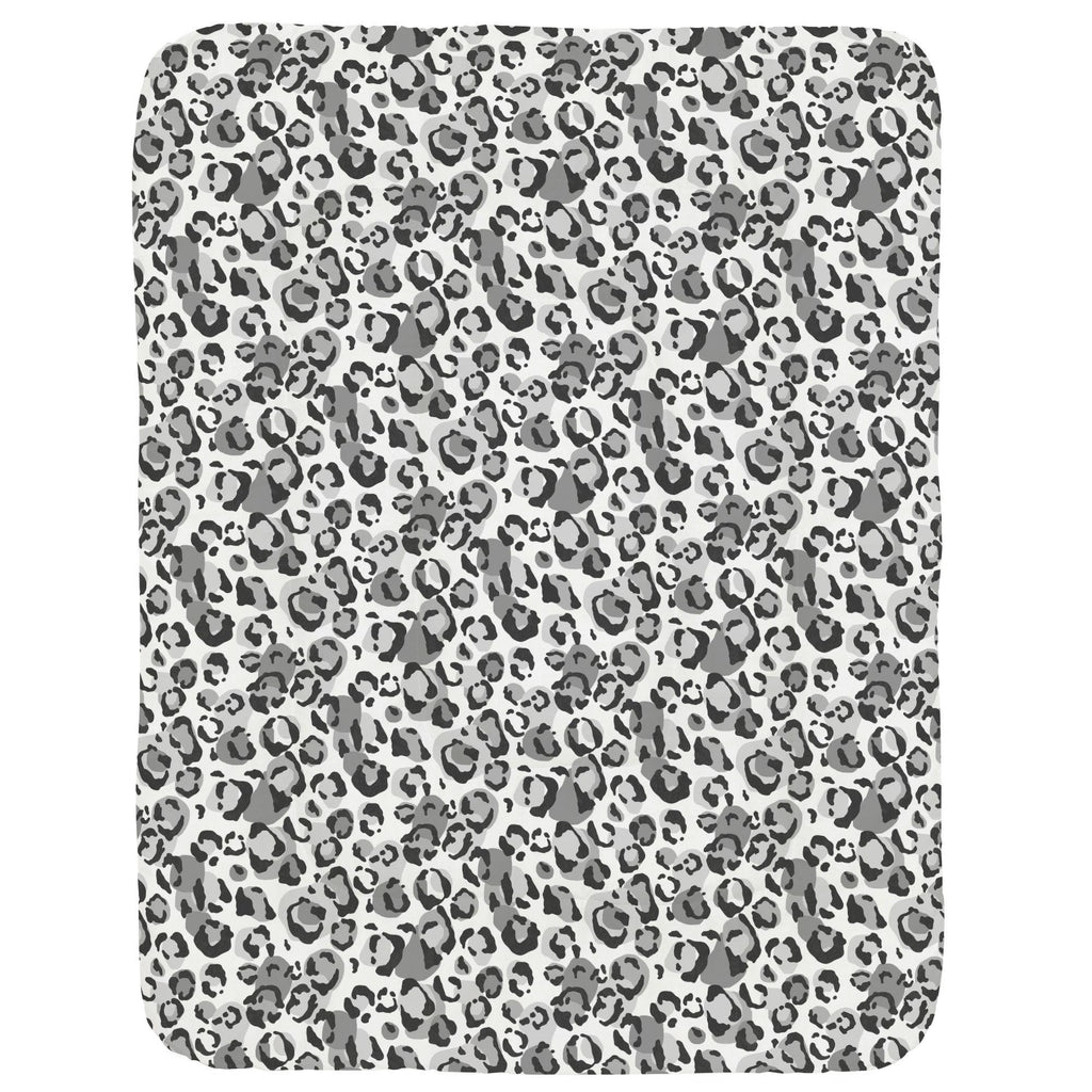Product image for Gray Leopard Crib Comforter