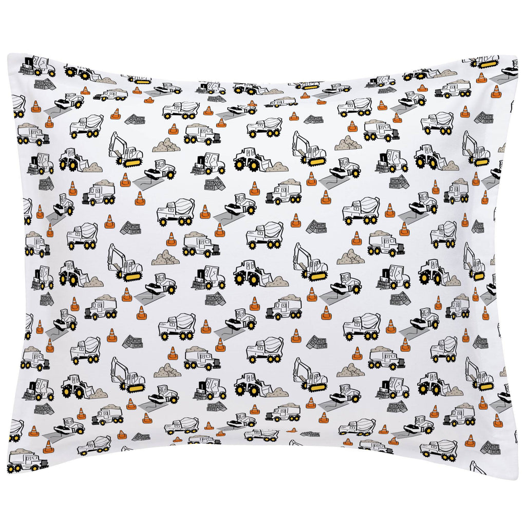 Product image for Construction Trucks Pillow Sham
