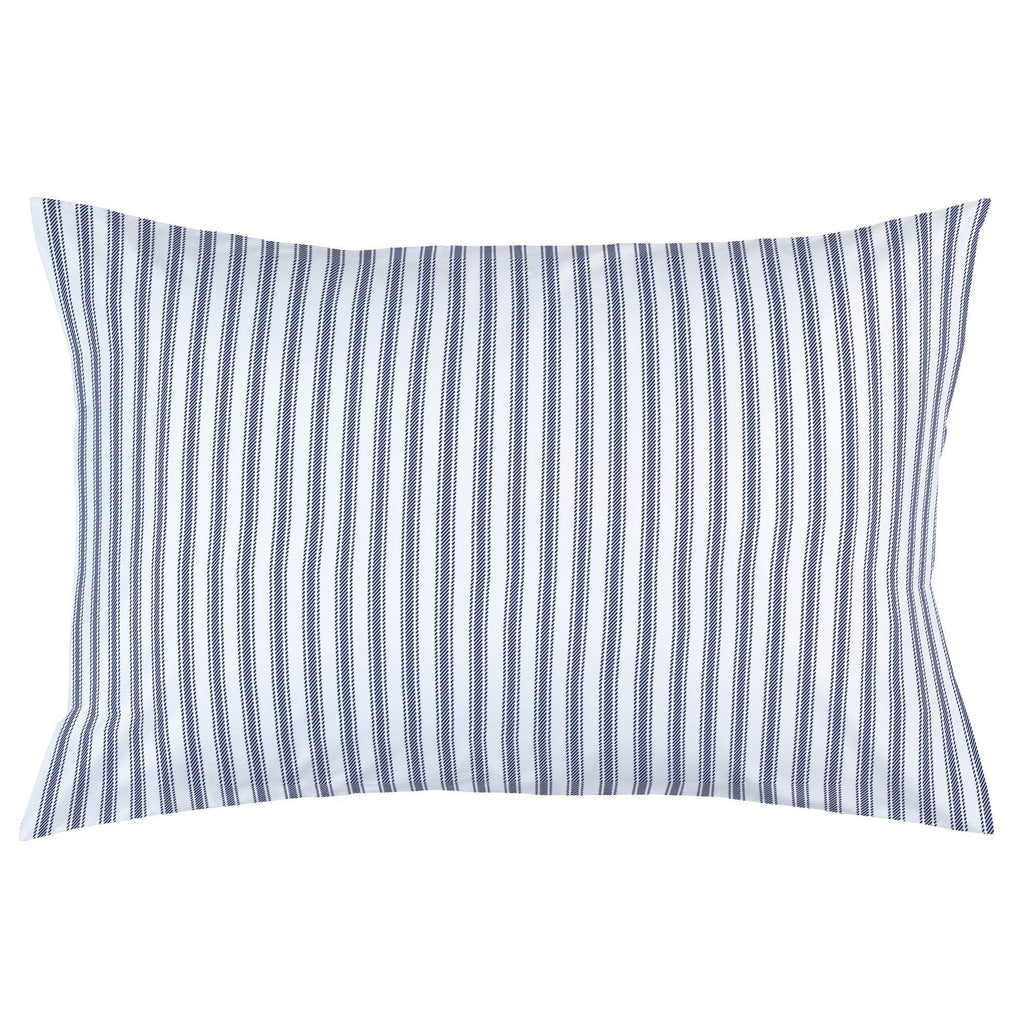 Product image for Windsor Navy Ticking Stripe Pillow Case