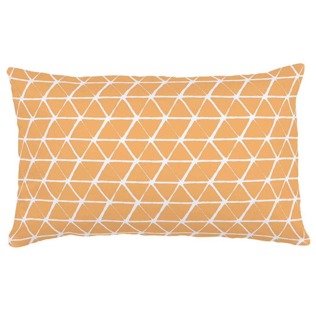 Product image for Light Orange Aztec Triangles Lumbar Pillow