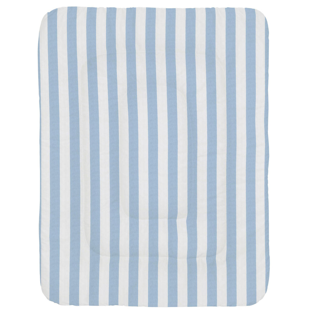 Product image for Blue Giddy Stripe Crib Comforter
