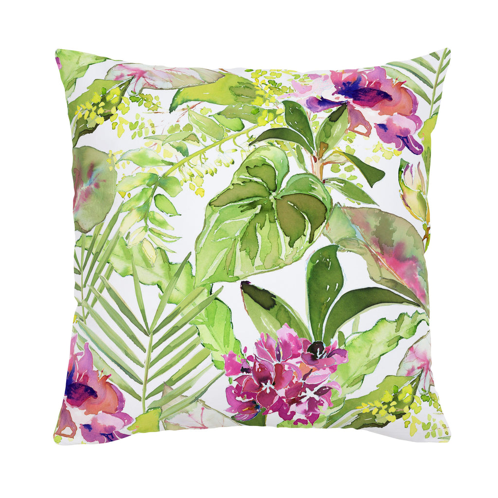 Product image for Tropical Garden Throw Pillow