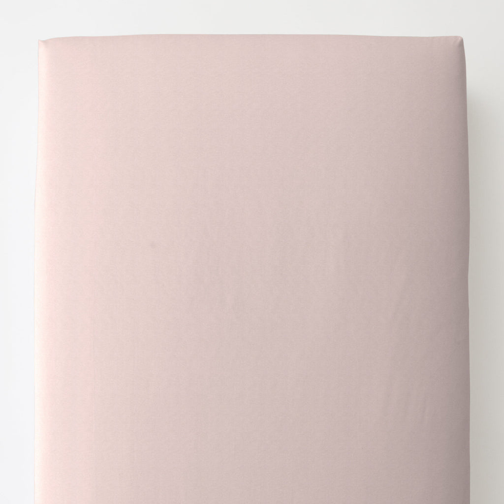 Product image for Solid Pale Pink Toddler Sheet Bottom Fitted