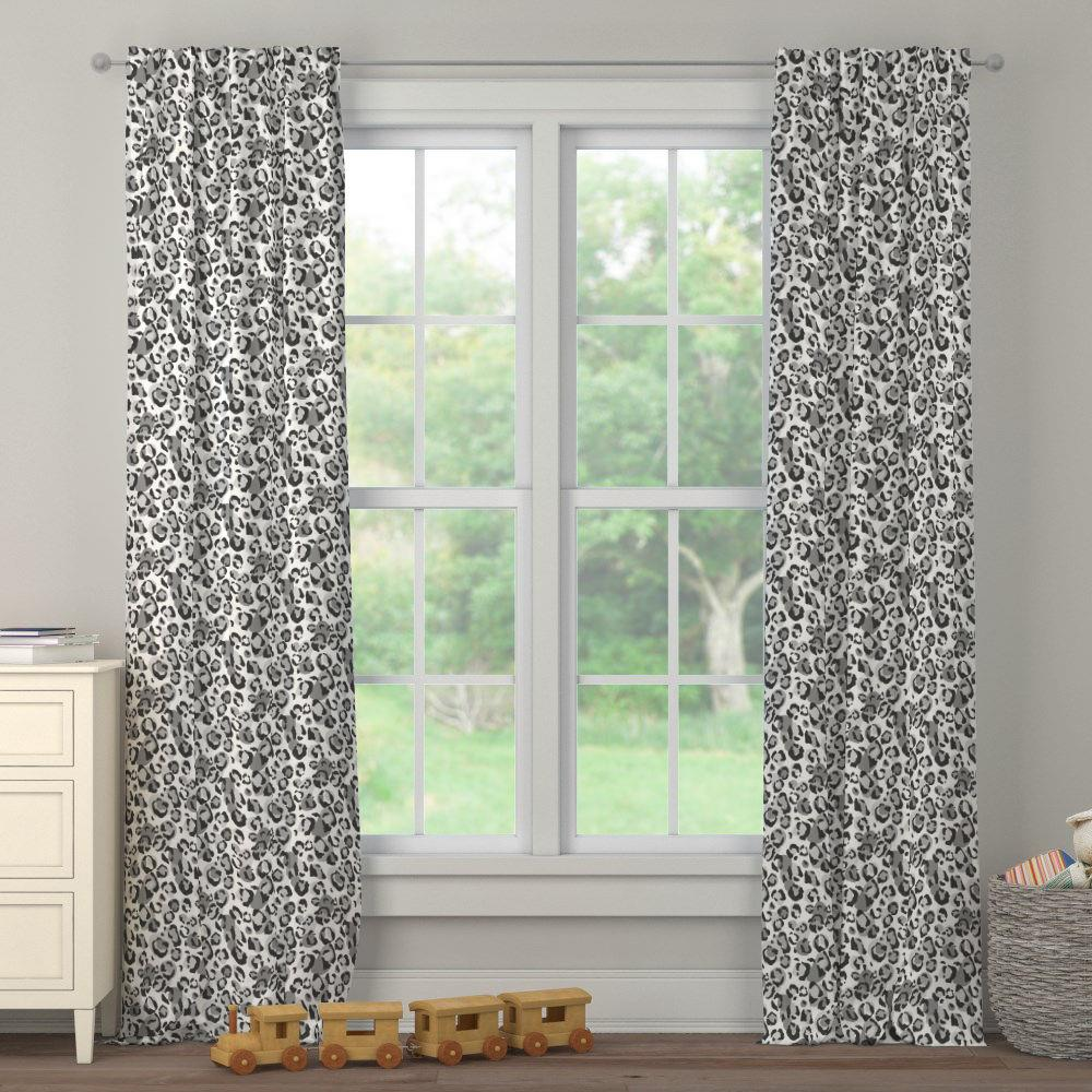 Product image for Gray Leopard Drape Panel