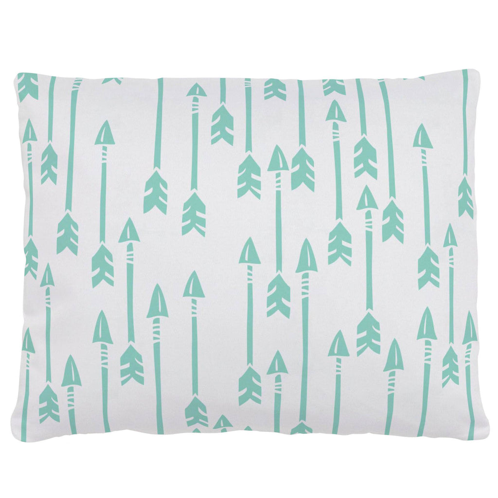 Product image for Mint Flying Arrow Accent Pillow