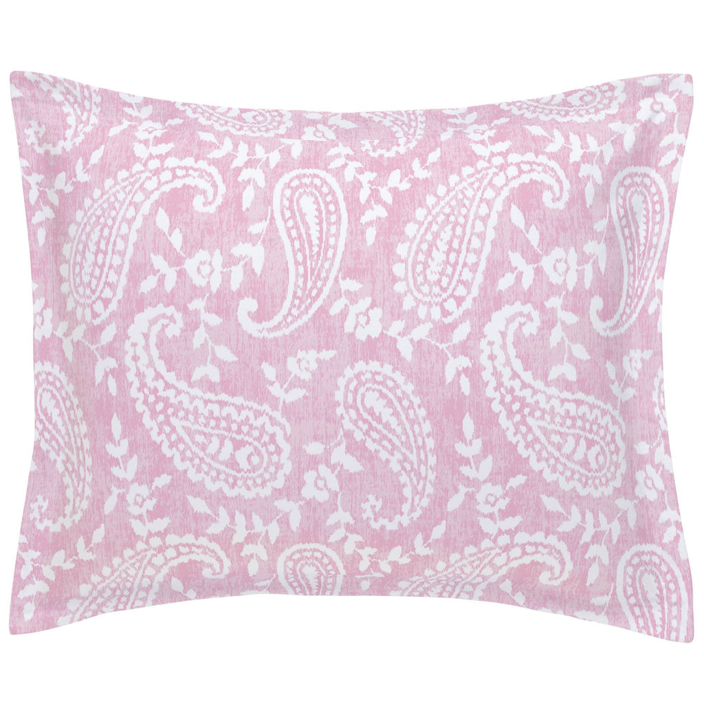 Product image for Pink Paisley Pillow Sham