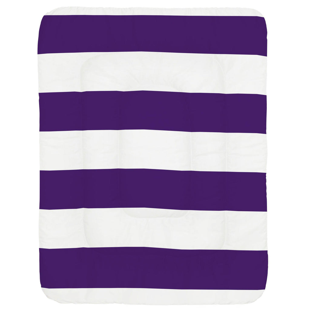 Product image for Purple Horizontal Stripe Crib Comforter