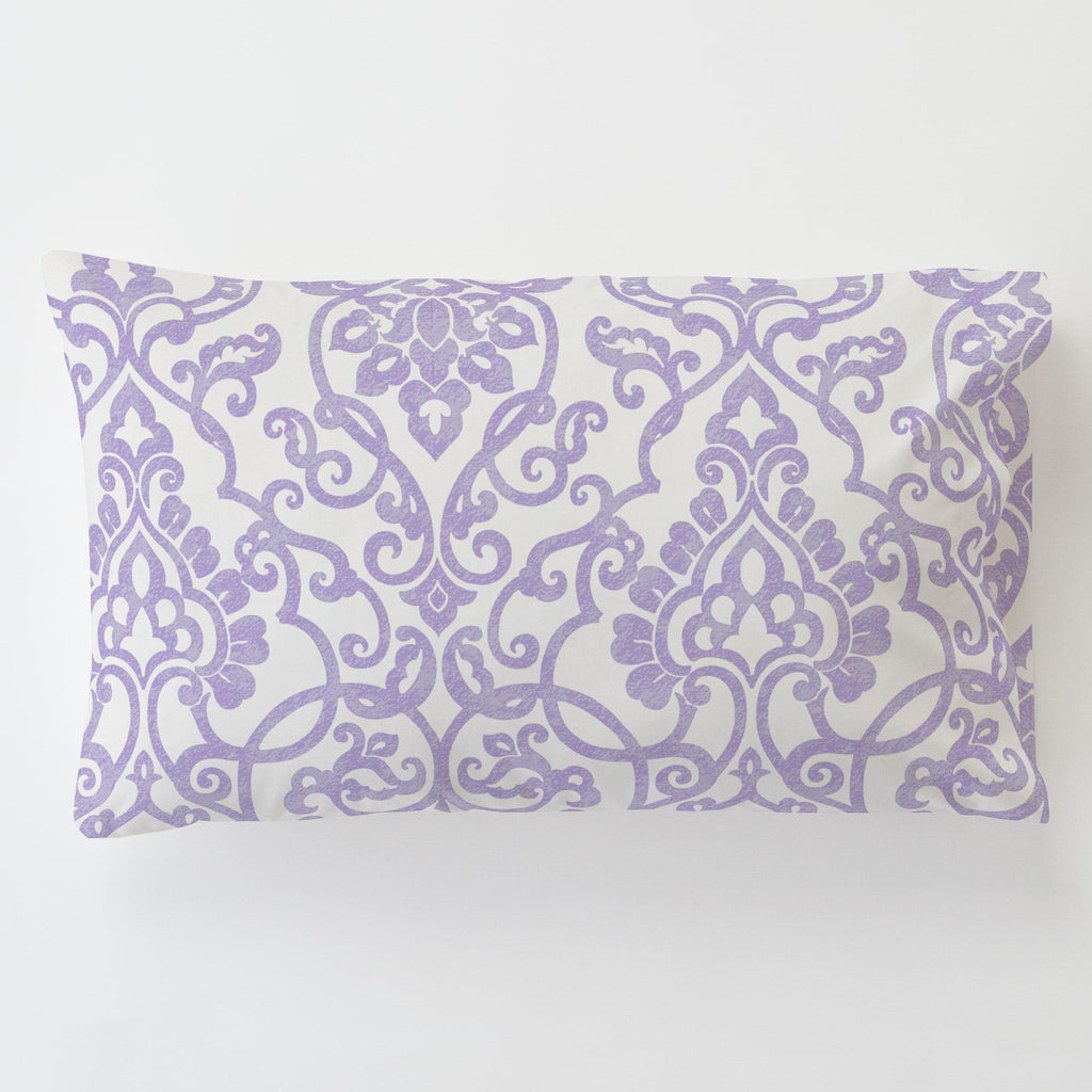 Product image for Lilac Filigree Toddler Pillow Case with Pillow Insert