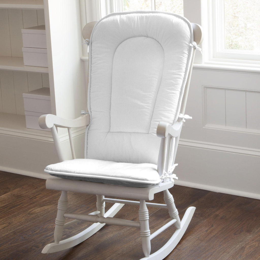 Product image for White Pique Rocking Chair Pad