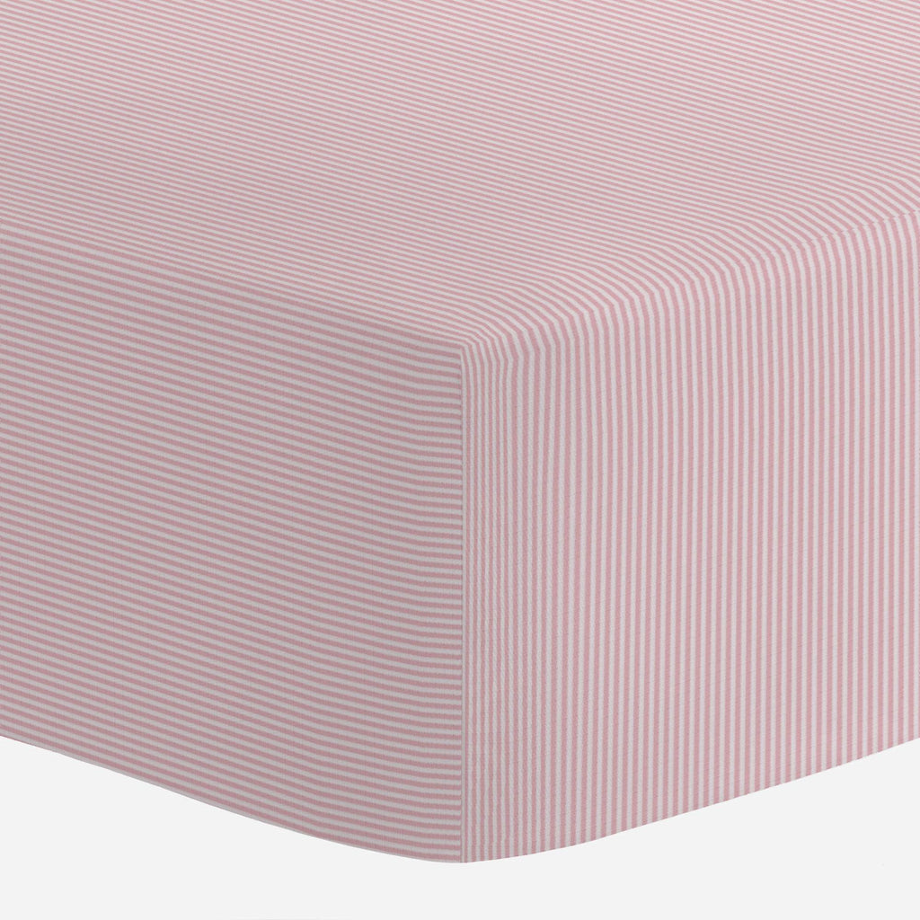 Product image for Pink Mini-Stripe Crib Sheet