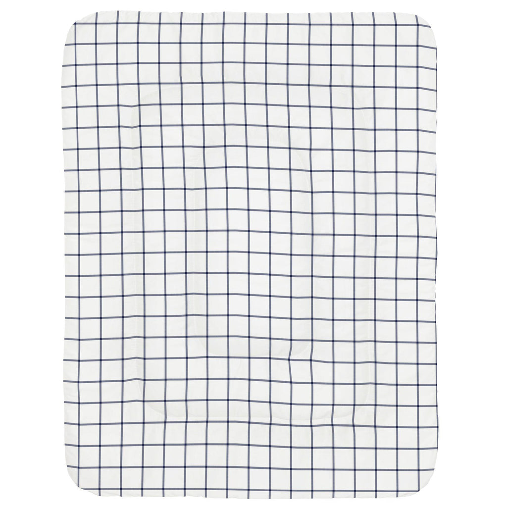 Product image for Navy Windowpane Crib Comforter