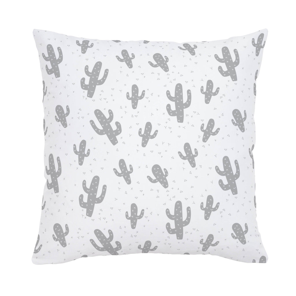 Product image for Silver Gray Cactus Throw Pillow