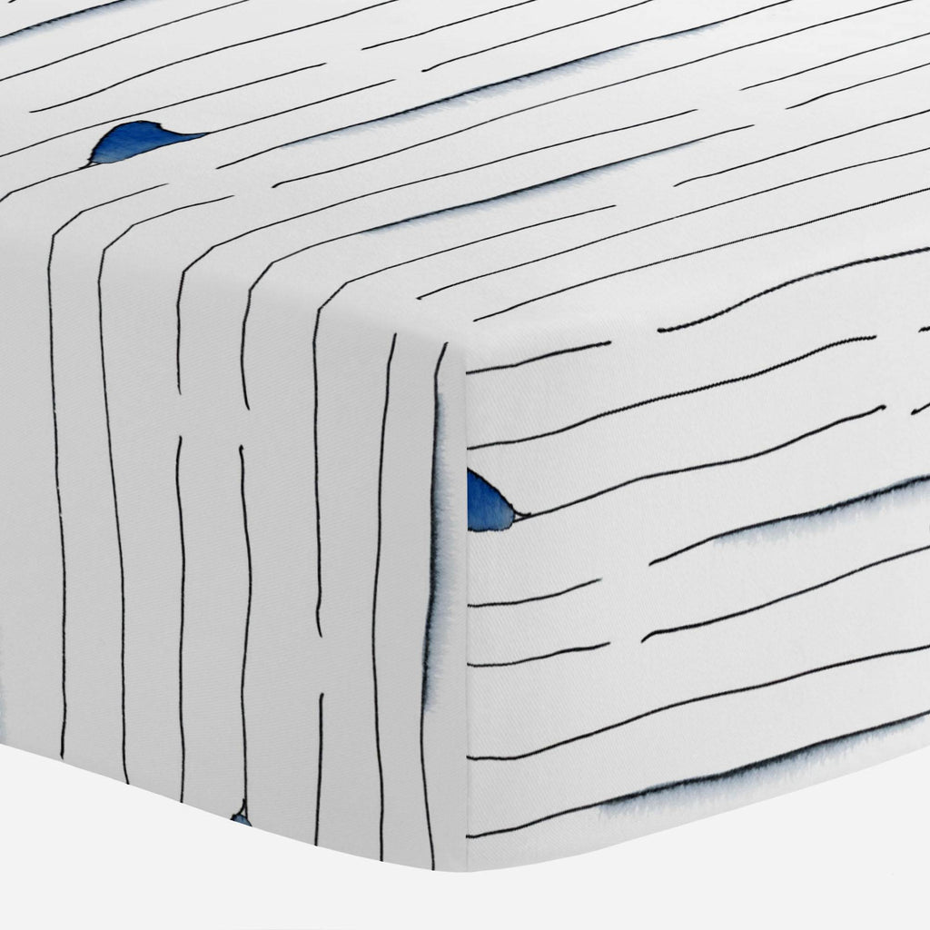 Product image for Shark Fin Stripe Crib Sheet