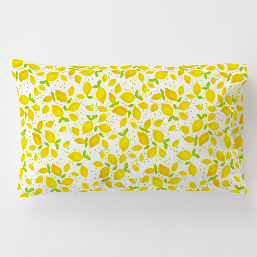 Product image for Little Lemons Toddler Pillow Case with Pillow Insert