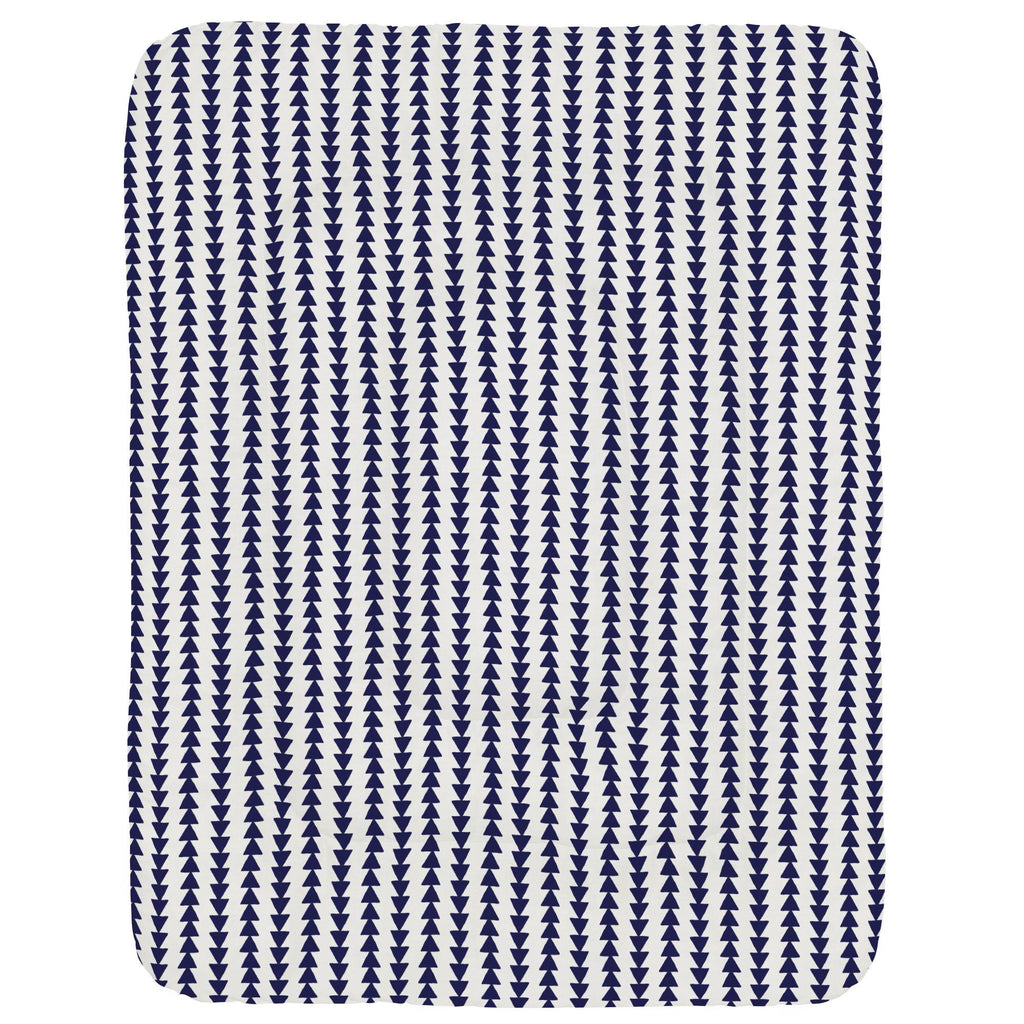 Product image for Windsor Navy Arrow Stripe Crib Comforter