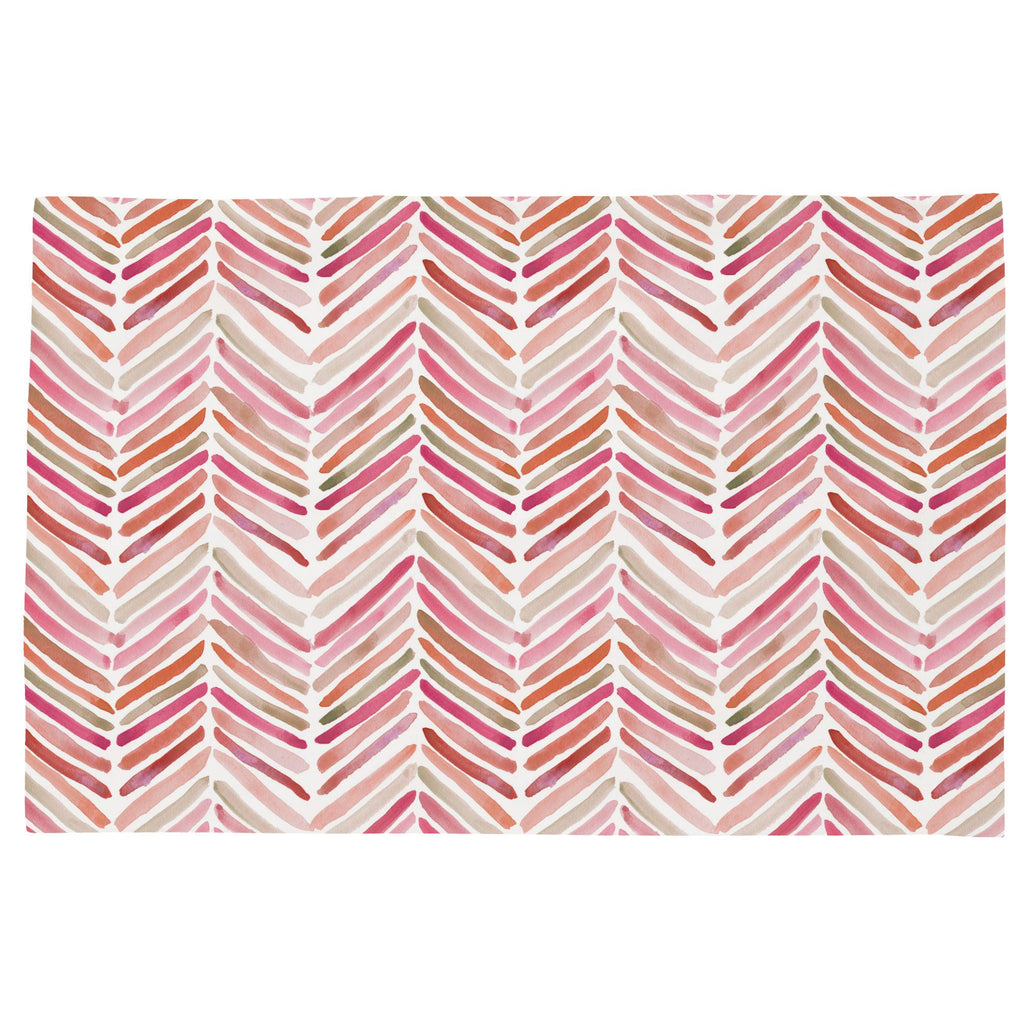 Product image for Pink Painted Chevron Toddler Pillow Case