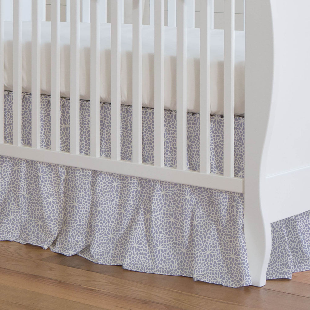 Product image for Lavender Modern Mums Crib Skirt Gathered