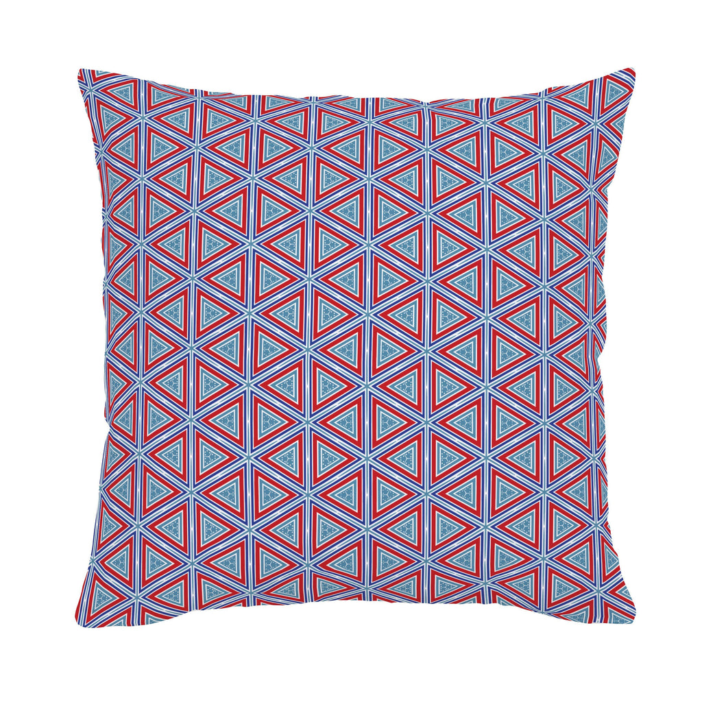 Product image for Red Nautical Triangles Throw Pillow