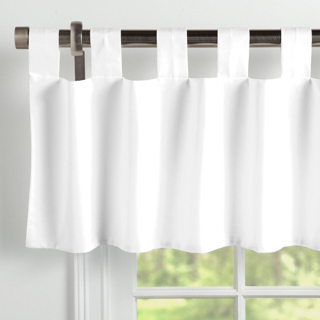 Product image for Solid White Window Valance Tab-Top