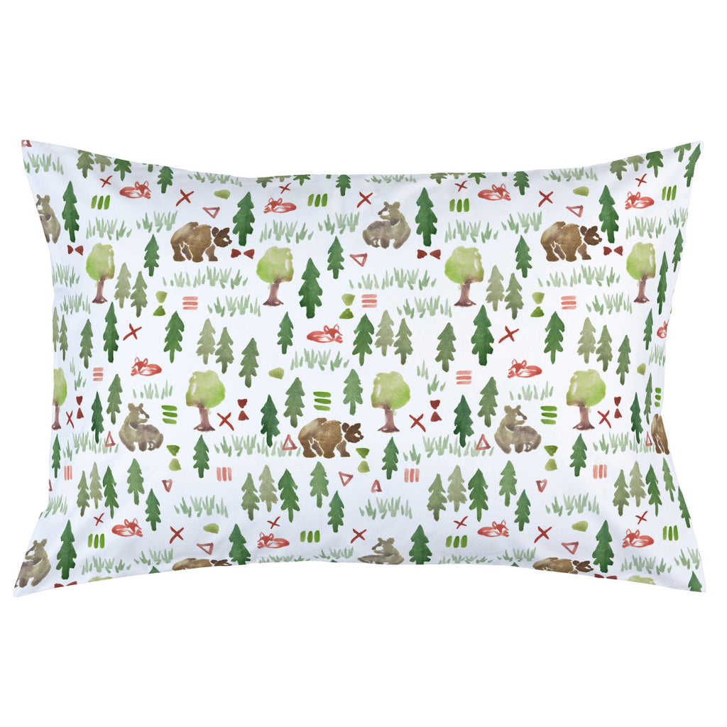 Product image for Watercolor Forest Pillow Case
