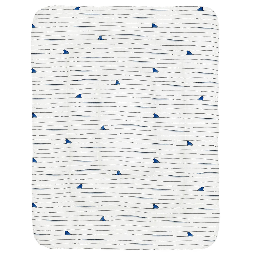 Product image for Shark Fin Stripe Crib Comforter