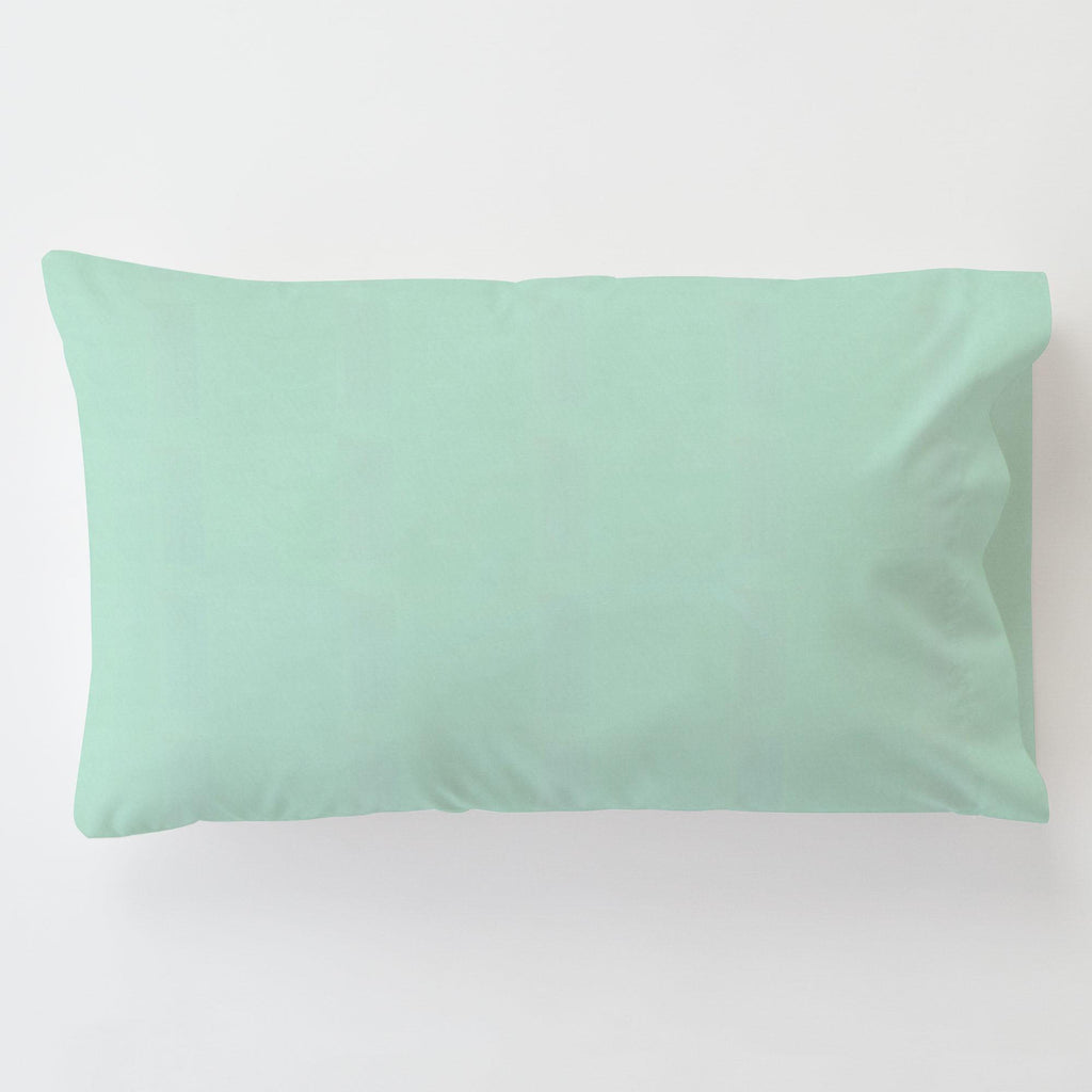 Product image for Solid Mint Toddler Pillow Case with Pillow Insert
