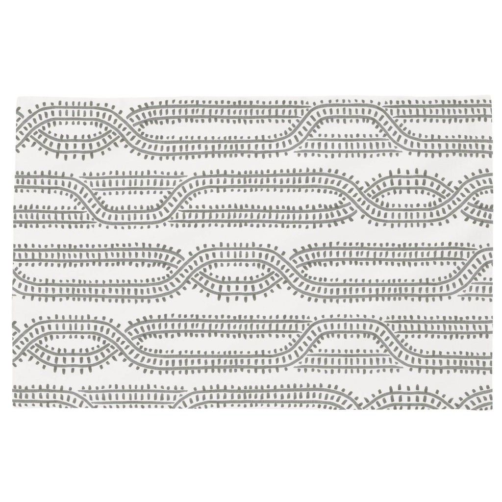 Product image for Gray Train Tracks Toddler Pillow Case