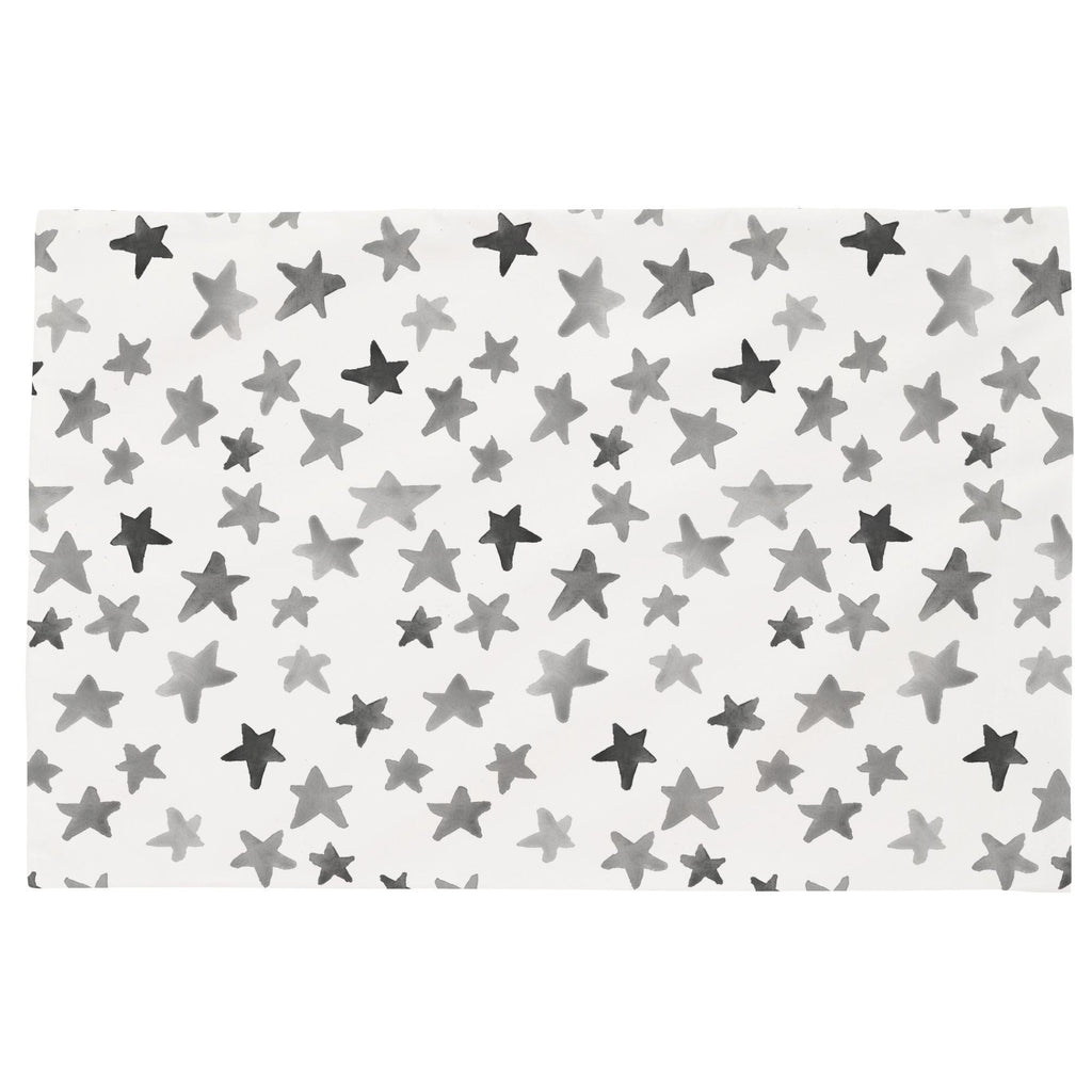 Product image for Gray Watercolor Stars Toddler Pillow Case