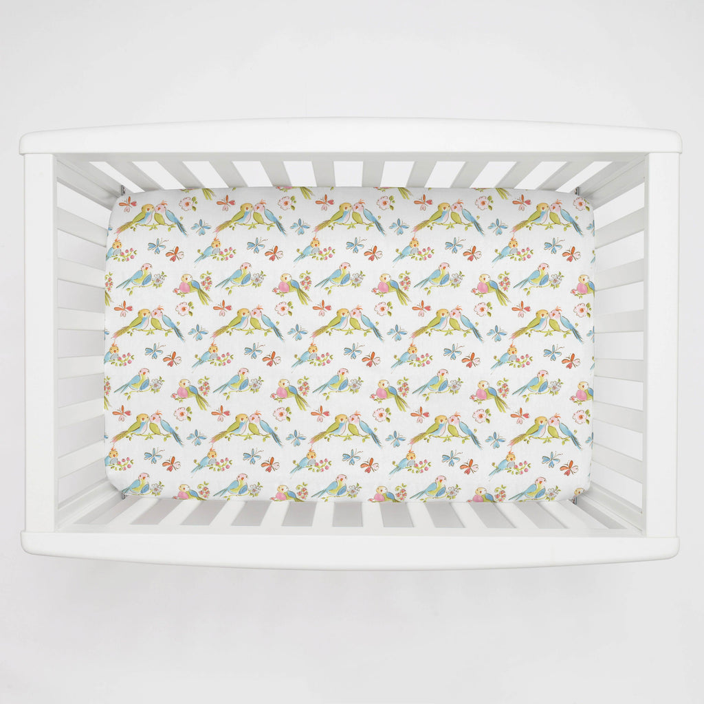 Product image for Love Birds Mini Crib Sheet