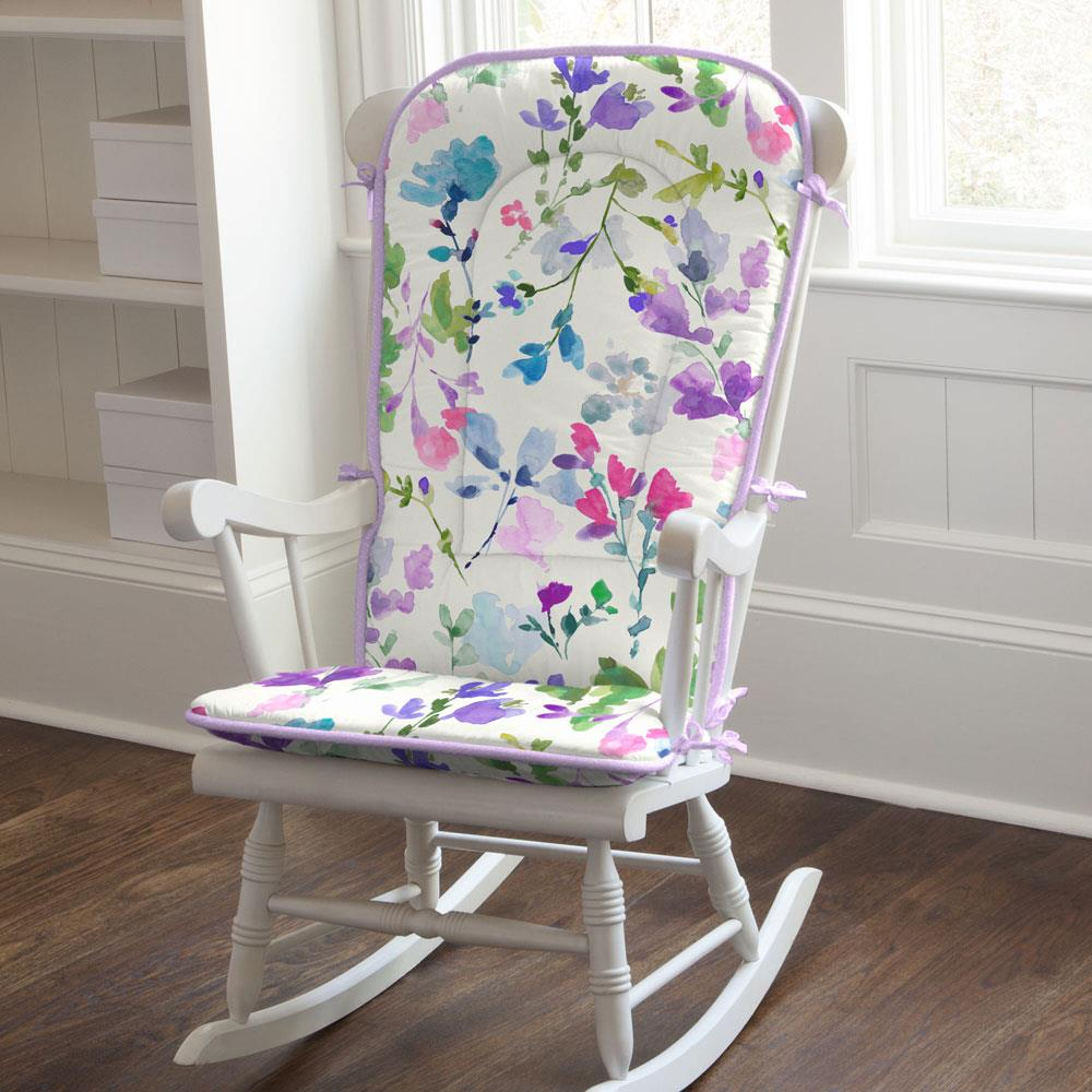 Product image for Bright Wildflower Rocking Chair Pad