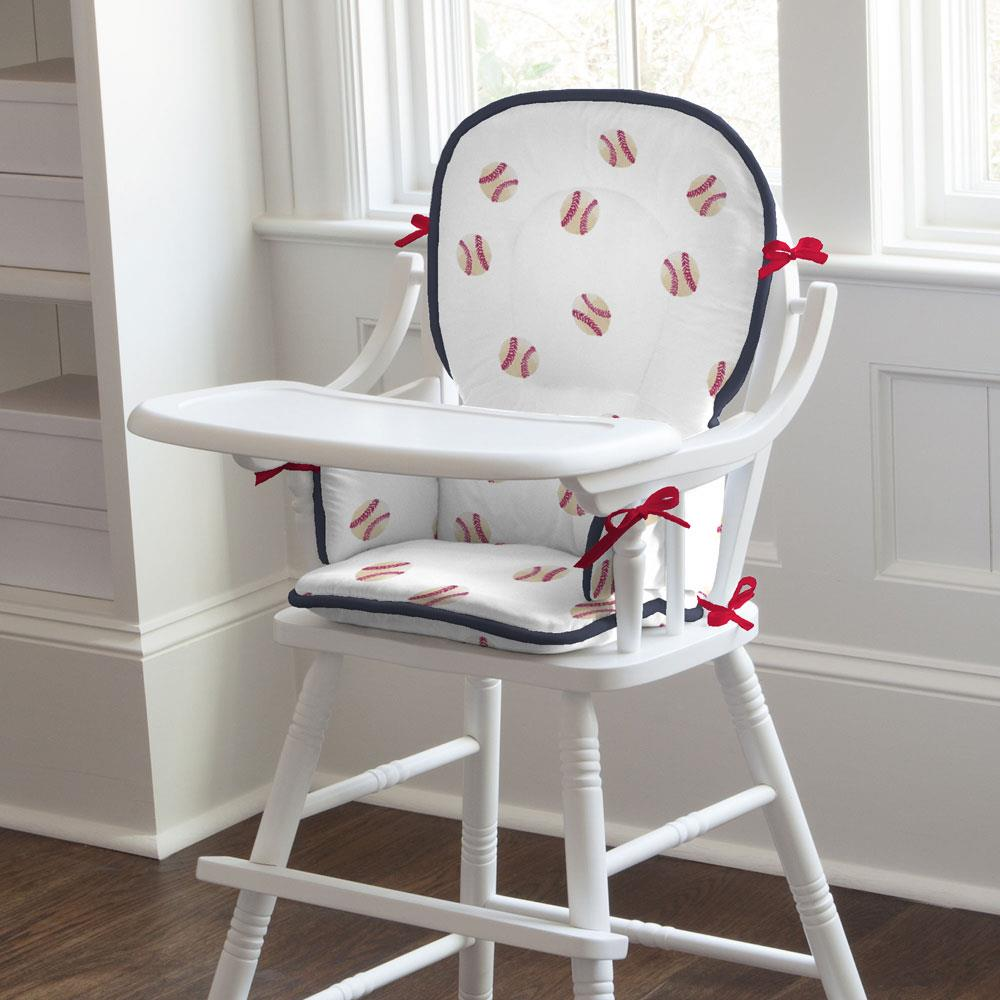Product image for Watercolor Baseball High Chair Pad
