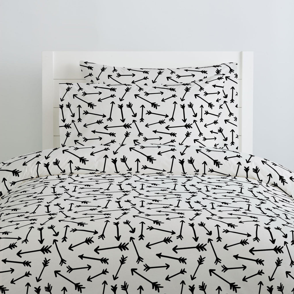 Product image for Onyx Whimsical Arrows Duvet Cover