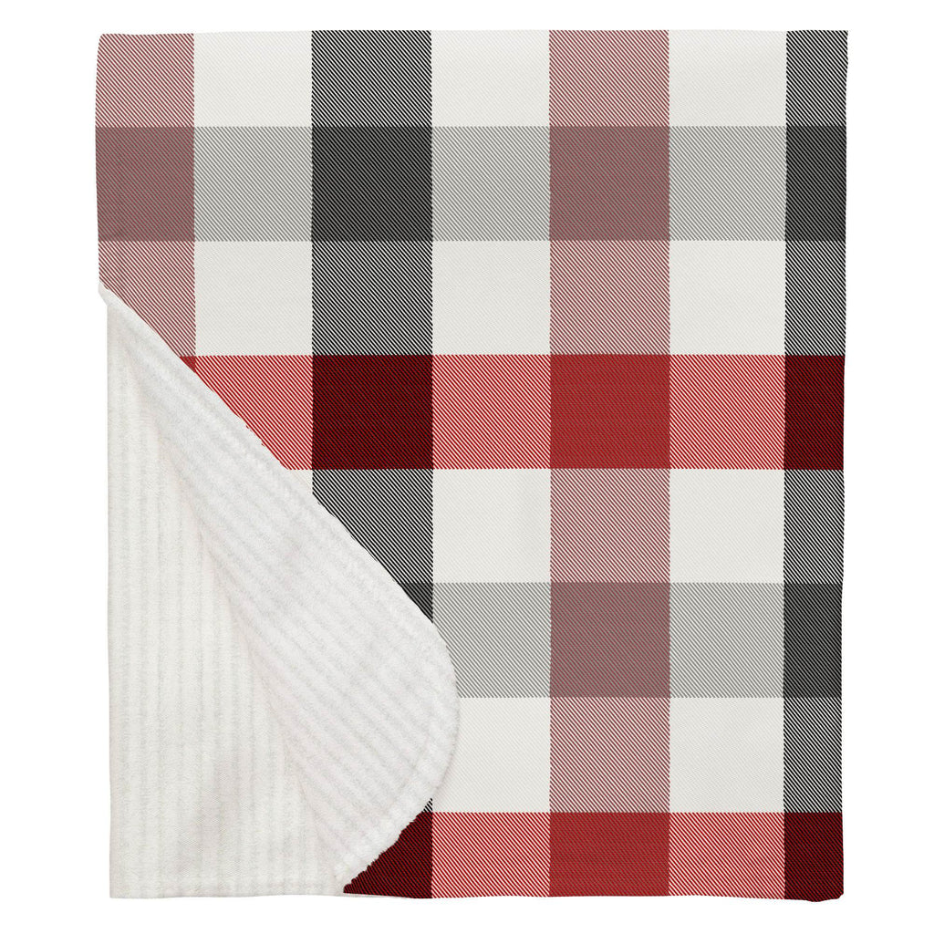 Product image for Red and Onyx Buffalo Check Baby Blanket