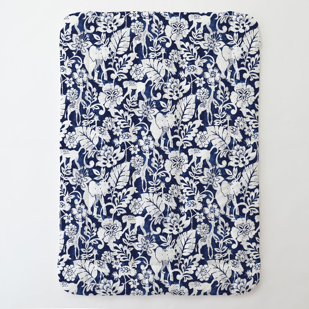 Product image for Navy and White Jungle Toddler Comforter