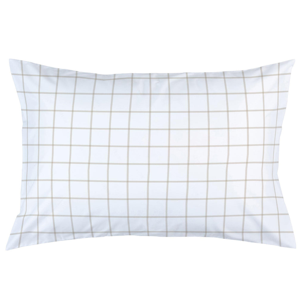Product image for Taupe Windowpane Pillow Case