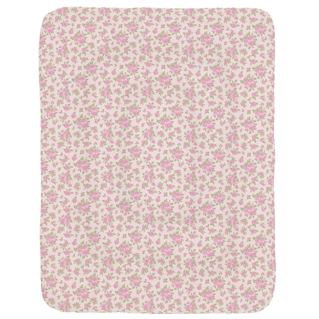 Product image for Pink Rosettes Crib Comforter