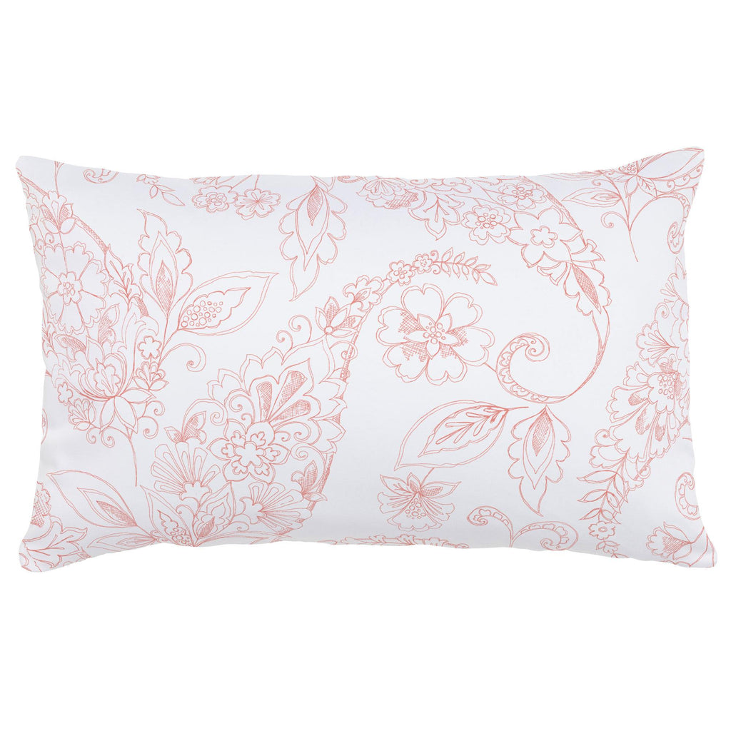 Product image for Light Coral Sketchbook Floral Lumbar Pillow